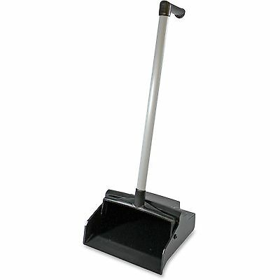 "Genuine Joe Dust Pan,Lobby Master,PVC Handle,Plastic,32""x12""11"",Black 85147"