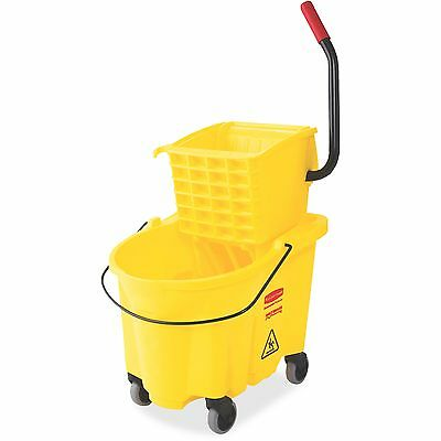 Rubbermaid Commercial Commercial Mop Bucket w/ Wringer Wavebreak 26Qt Yellow