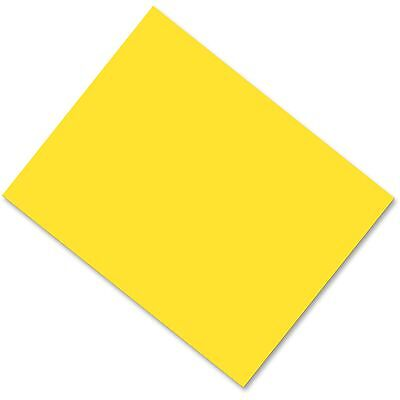 "Pacon Corporation Poster Board Coated Fade Resistant 28""x22"" 25/CT Yellow 53831"