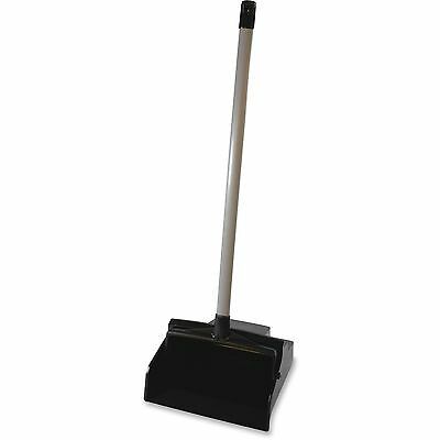 Genuine Joe Loby Dustpan, Plastic, Black 85136
