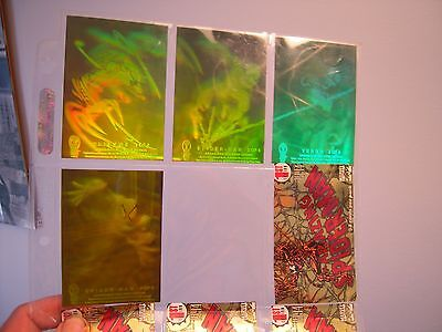 The Amazing Spiderman  Set  Complet De 4  Holograms   Cards  Rare 1994 Tbe
