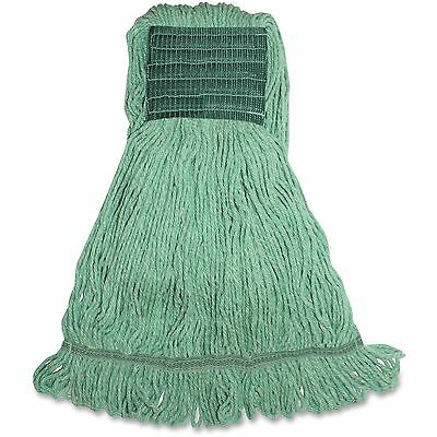 Genuine Joe Synthetic Blend Wide Band Wet mop, 160z., 12/CT, Green MGR5BCT