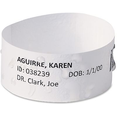 Avery East Band Medical Wristbands w/Chart Lbls, Med, 100/BX, WE 74433