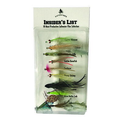 Saltwater Flies Assortment Fly Fishing Salt Water 10 Qty Gotcha Permit Bonefish