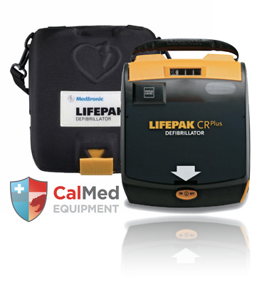 Physio-Control Lifepak CR Plus AED+ New Pads, Battery, Carry Case-2 YR WRNTY