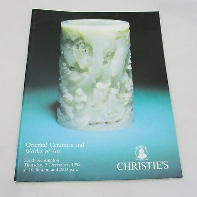 Christie's Auction Catalogue - Oriental Ceramics and Works of Art 1992
