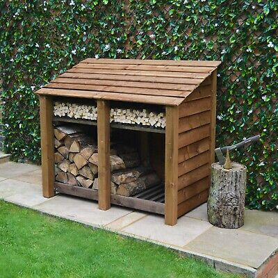 Cottesmore 4ft Outdoor Wooden Log Store ***Clearance Stock*** - UK Hand Made