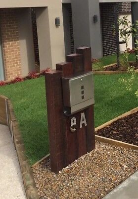 Limited Edition Custom Made WA Jarrah & Stainless Steel Feature Letterbox