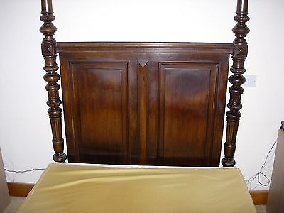French Renaissance Walnut 4 poster Bed with Tester