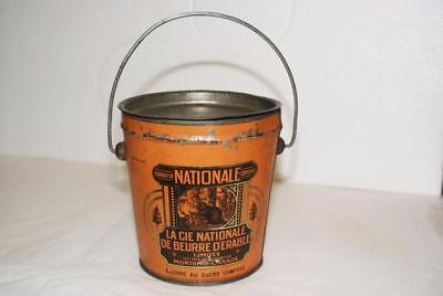 Rare National Maple Butter Tin / 32 oz Size / Beavers - Canadiana - Montreal