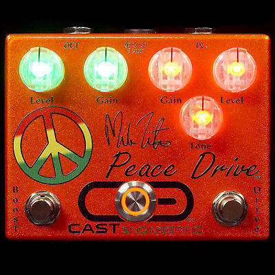 New Cast Engineering Mike Zito Peace Drive Guitar Effects Pedal Overdrive Boost