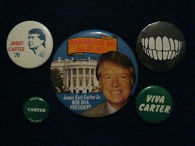 5-JIMMY  CARTER 1976-1977 Campaign/Inauguration Buttons