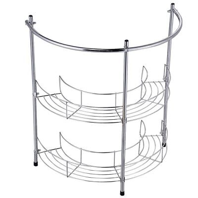 UNDER BASIN RACK 2 Tier Chrome Silver Sink Storage Bathroom Shelf Organiser