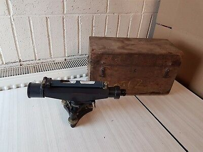 Vintage Antique Stanley London Surveyors Theodolite Site Level Tool