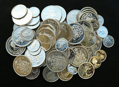 $17 face Uncirculated Canadian 80% Silver Half Dollars / Quarters / Dimes