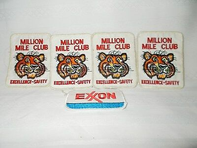 4...humble Oil Tony The Tiger Safety Driver Patches,plus I Exxon Patch