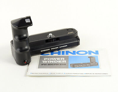 Chinon Power Winder PW-600 For CE-4 CE-4s CE-5 CM-5 CP-5 CP-5s SLRs - Tested