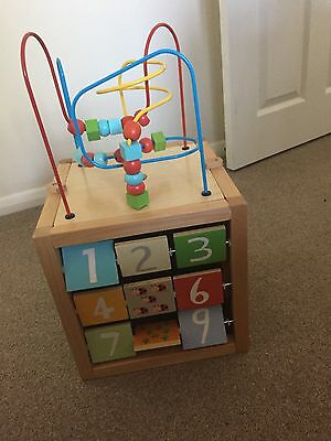 ELC Giant Wooden Learning Activity Cube Toy