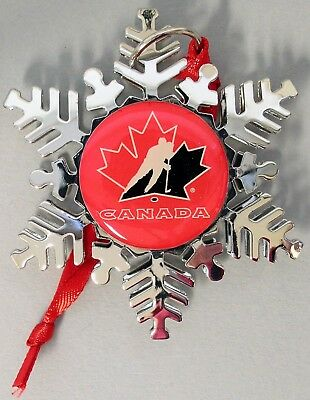 """Team Canada - Holiday """"snowflake"""" Ornament - Offically  Licensed - New!"""