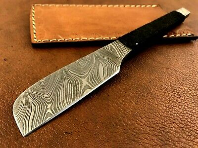 Handmade Damascus Steel Straight Razor-Japaneses Kamisori Style-Cut Throat-xd23