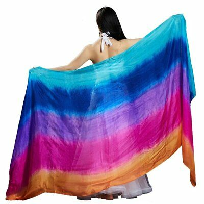 100% real silk belly dance veil cheap dance veils wholesale 250*114 cm 5 color