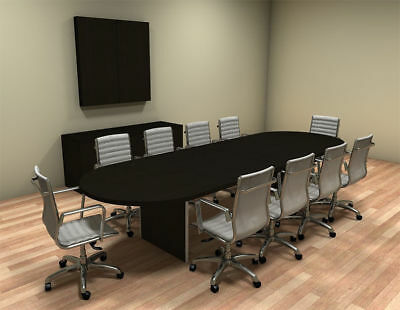 MODERN RACETRACK Feet Conference Table CHAMBC - 12 foot conference table