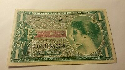 United States (USA) Military payment certificate 1 Dollar Series 651