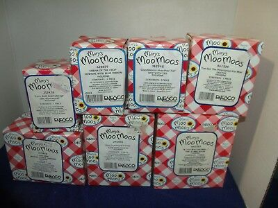 Mary's Moo Moos  Lot of 7 in boxes EUC