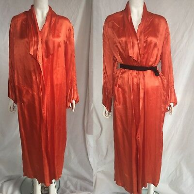 1930s Satin Robe / Dressing Gown
