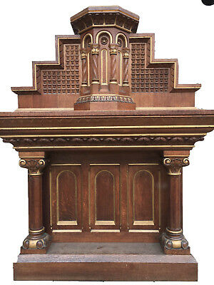 Antique Oak Church Altar, Circa-Late 19th Century
