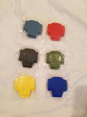 Transformers Botcon 2007 Lunchables movie flip open characters - full set