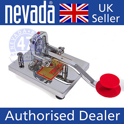 Vibroplex VP-HK Deluxe Morse Code Hand Key with Chrome finish  NEW !