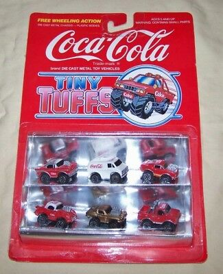 Tiny Tuffs Coca Cola Die Cast Metal Toy Micro Vehicles 1979 Mint on Card