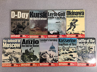 Lot of 16 Ballantine Illustrated History of WWII Books, Battles, Vintage 1970