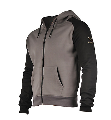 WPN Activewear FIREPOWER HOODIE Grey and Black Mens