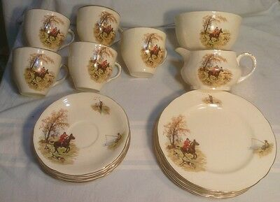 Alfred Meakin, Country Life, Cups, Plates, Hunting, Horses, Dogs, Fishing, As Is