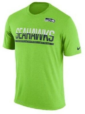 SEATTLE SEAHAWKS BLACK and Neon Jersey Mens XL Stitched Nike