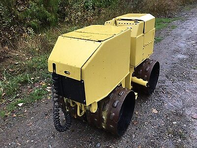 Wacker Rt820 Trench Compactor Padfoot Roller Remote Control Bomag Ingersoll Rand