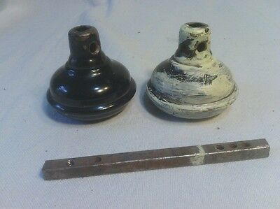 Vintage Door Knob Set, Hollow Metal Knobs, As Is, No Dents, No Screws