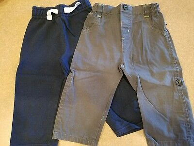 Set of 2 Infant Boy's Pants, Black and Gray Size 2T.