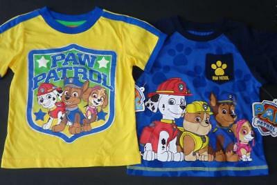 PAW PATROL Toddler Boys 2T 3T 4T 5T Short Sleeve Tee SHIRT Top Chase Marshall