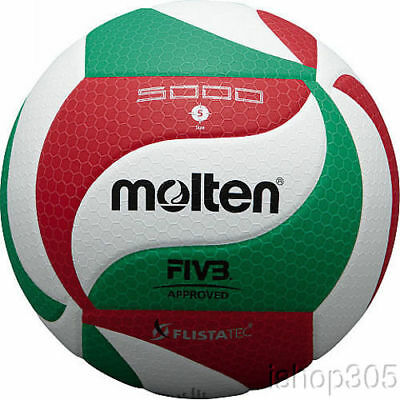 Molten V5M5000 Volleyball Official FIVB Approved Indoor Pro Game Ball FLISTATEC