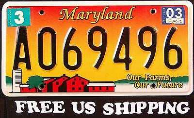 MARYLAND ' OUR FARMS - OUR FUTURE - BARN ' MD Graphic License Plate FREE US SHIP