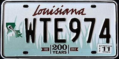 "LOUISIANA "" WILDLIFE PELICAN 200 YEARS BICENTENNIAL "" LA Graphic License Plate"
