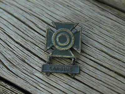 Vintage US Army Military Carbine Sharpshooter Badge Sterling