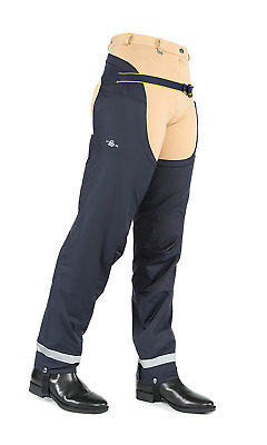 Shires Rio Winter Waterproof Adults Chaps - Navy Blue