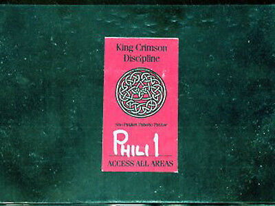 King Crimson 1981 - backstage pass access all areas