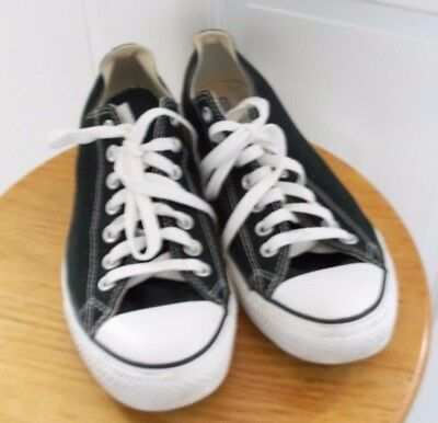 Converse All Star Sneakers Black Men's Size 9 Women's Size 11