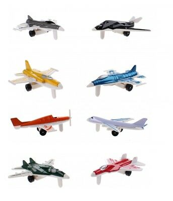 8 X Diecast Mixed Commercial Fighter Jet Airplane Models Fighter Planes Kids Toy