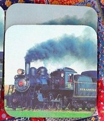 TRAIN LOCOMOTIVE Rubber Backed Coasters #0823